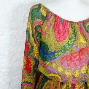 Show Me Your MuMu Dresses - Show Me Your MuMu Multicolor Chiffon Dress #269